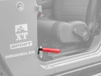GraBars BootBars Foot Pegs - Red (07-18 Jeep Wrangler JK; 2018 Jeep Wrangler JL)
