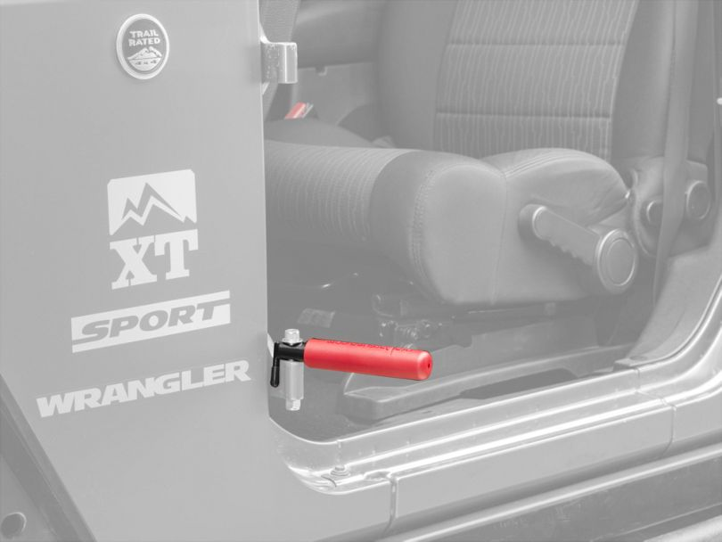 BootBars Foot Pegs - Red (07-20 Jeep Wrangler JK & JL)