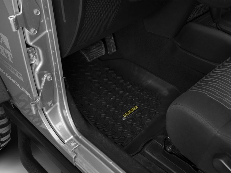 Barricade Front & Rear Floor Mats - Black (07-18 Jeep Wrangler JK 2 Door)