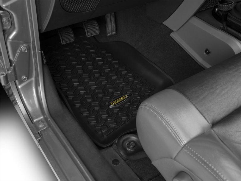 Barricade Front and Rear Floor Mats; Black (07-18 Jeep Wrangler JK 4 Door)