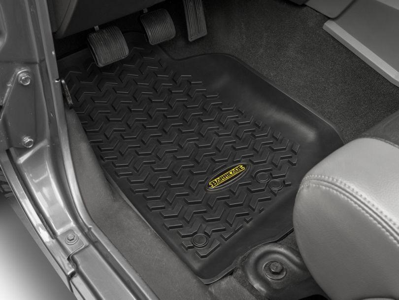 Barricade Front, Rear & Cargo Floor Mats - Black (07-10 Jeep Wrangler JK 4 Door)
