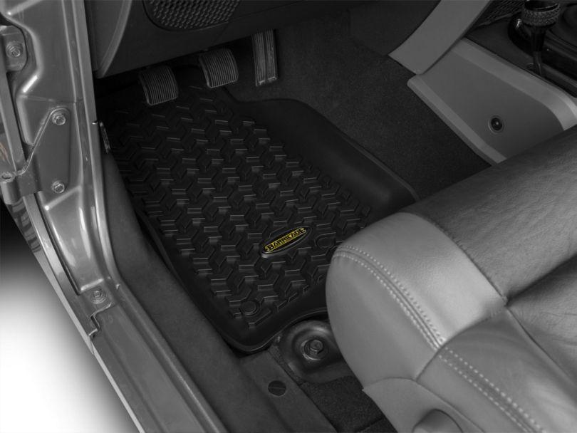 Barricade Front, Rear & Cargo Floor Mats - Black (11-18 Jeep Wrangler JK 4 Door)