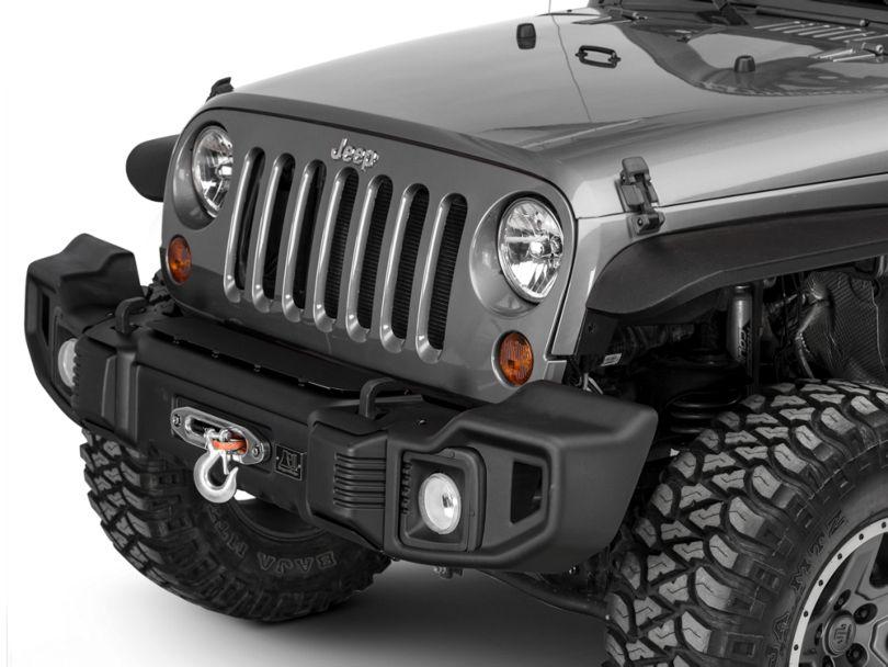 Rugged Ridge Spartacus Front Bumper - Satin Black (07-18 Jeep Wrangler JK)
