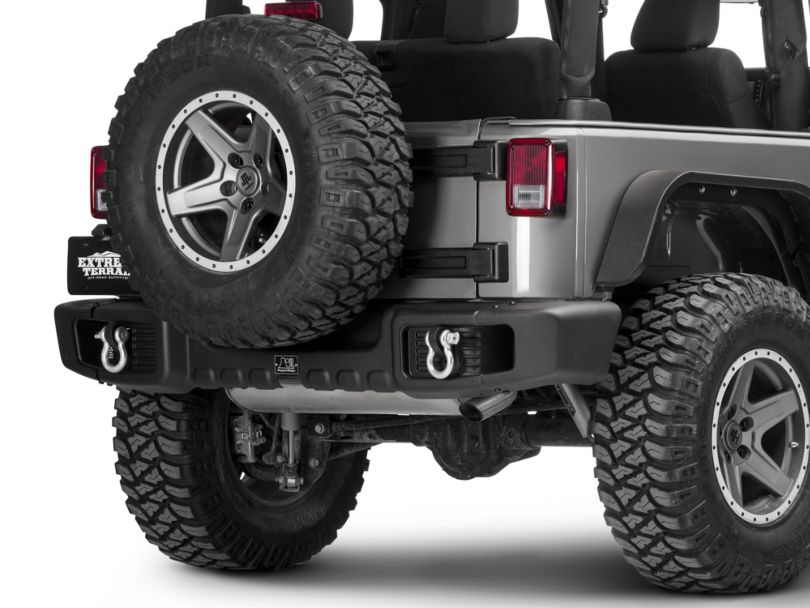 Rugged Ridge Spartacus Rear Bumper - Satin Black (07-18 Jeep Wrangler JK)