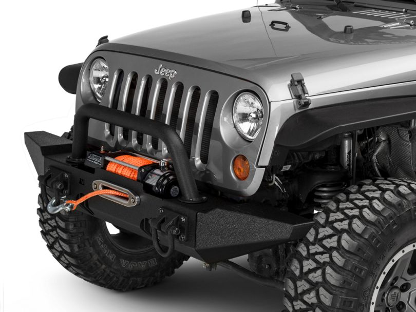 Rugged Ridge XHD Front Bumper with Over-Rider Hoop and Standard Ends (07-18 Jeep Wrangler JK)
