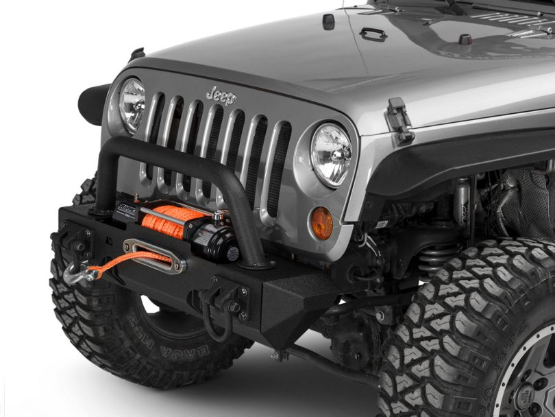 Rugged Ridge XHD Front Bumper with Over-Rider Hoop and Stubby Ends (07-18 Jeep Wrangler JK)