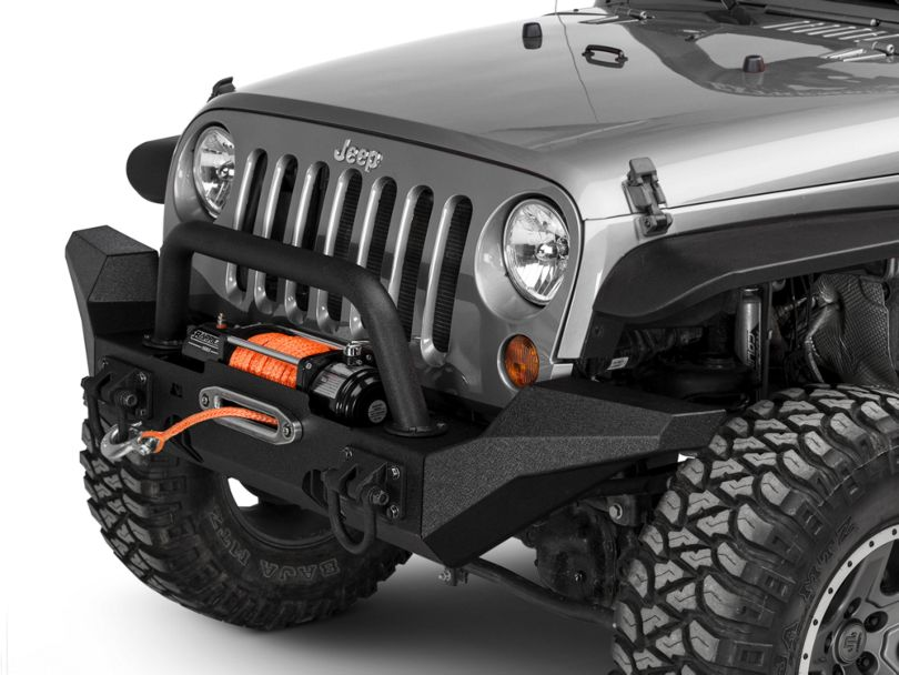 Rugged Ridge XHD Front Bumper w/ High Clearance Ends & Over-Rider Hoop (07-18 Jeep Wrangler JK)