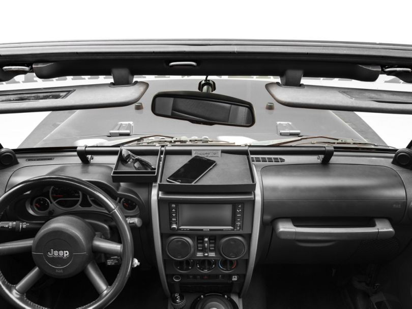 Rugged Ridge 4-Piece Interior Storage Kit - Black (07-10 Jeep Wrangler JK)
