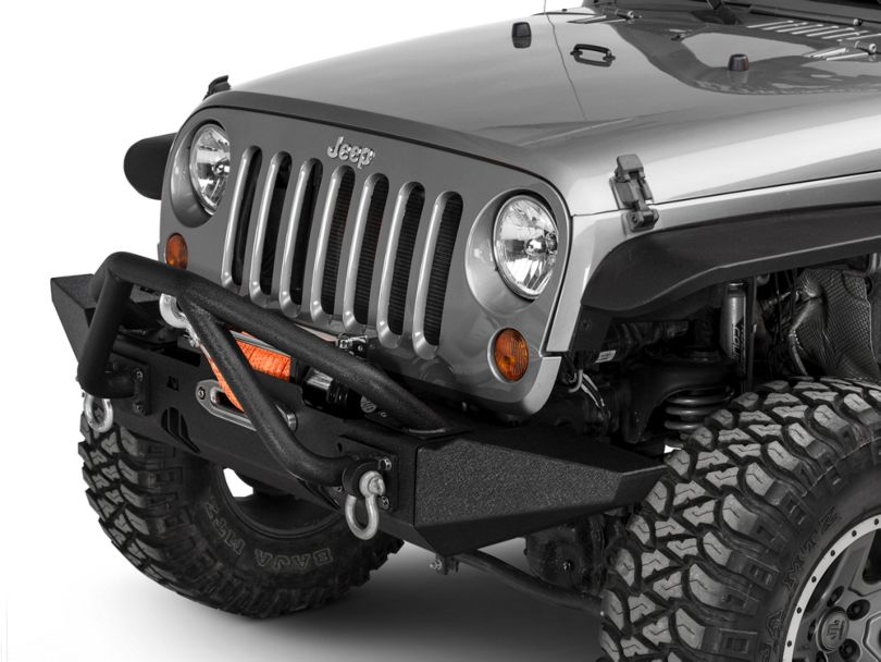 Rugged Ridge XHD Front Bumper with Double X-Striker and Standard Ends (07-18 Jeep Wrangler JK)