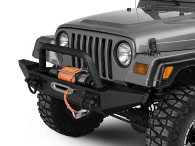 Add Rugged Ridge XHD Front Bumper Kit w/Overrider & Standard Bumper Ends (87-06 Wrangler TJ & YJ)