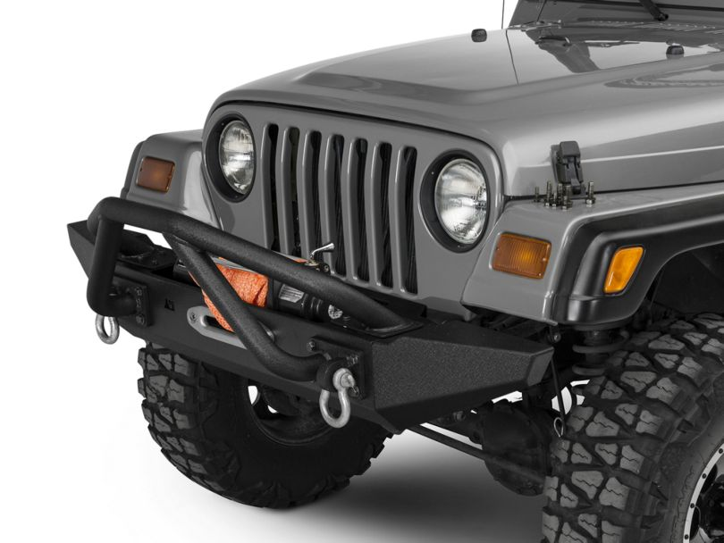 Rugged Ridge XHD Front Bumper with Double X-Striker and Standard Ends (87-06 Jeep Wrangler YJ & TJ)