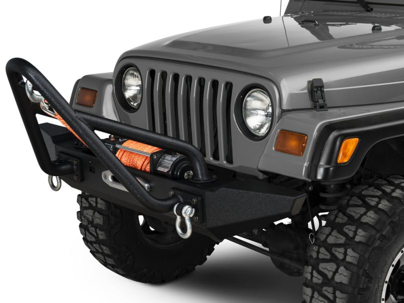 Rugged Ridge XHD Front Bumper Kit w/ Stinger Bar & Standard Bumper Ends (87-06 Jeep Wrangler TJ & YJ)