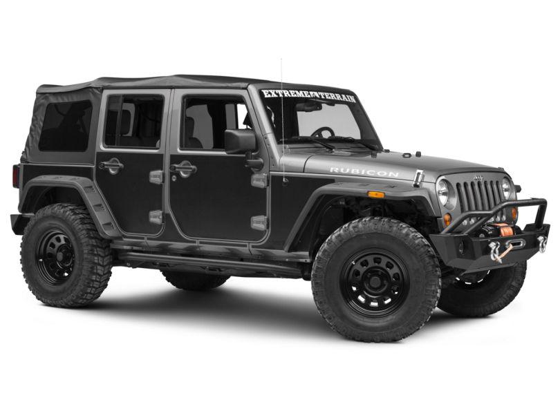 Rugged Ridge Magnetic Protection Panel Kit; Matte Black (07-18 Jeep Wrangler JK 4 Door)