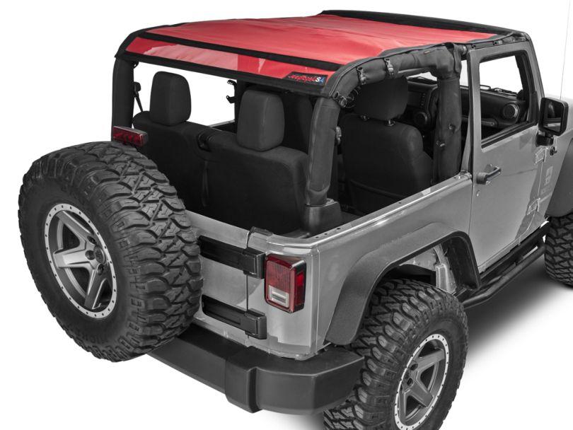 JTopsUSA Mesh Shade Top - Red (07-18 Jeep Wrangler JK 2 Door)