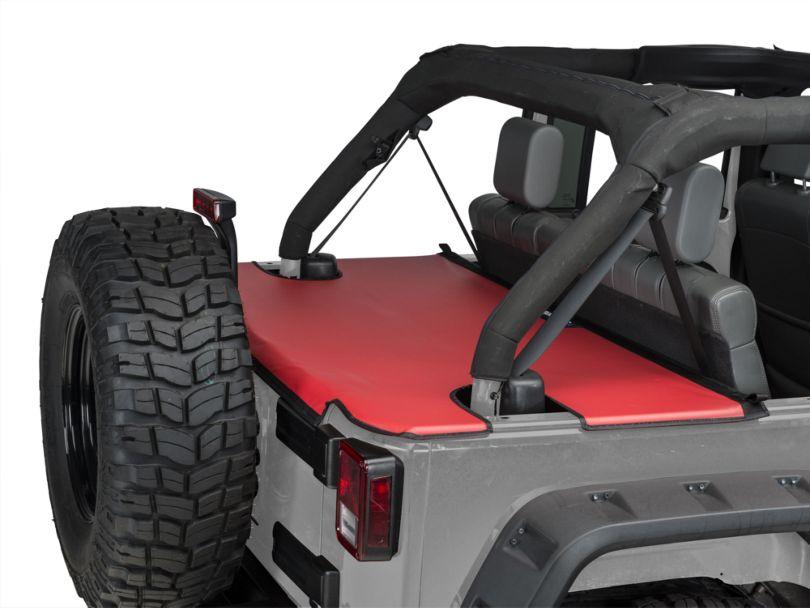 JTopsUSA Tonneau Cover - Red (07-18 Jeep Wrangler JK 4 Door)