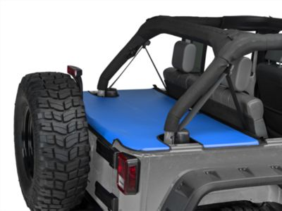 JTopsUSA Tonneau Cover - Blue (07-18 Jeep Wrangler JK 4 Door)