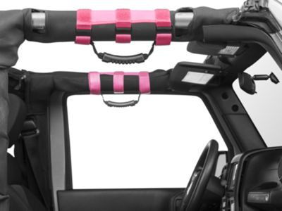 Rugged Ridge Ulimate Grab Bar Handles for 2-3 in. Roll Bars - Pink (87-18 Jeep Wrangler YJ