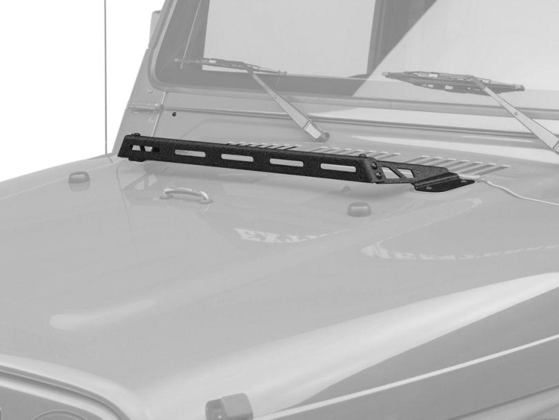 Rugged Ridge Hood Mounted Light Bar - Black (97-06 Jeep Wrangler TJ)