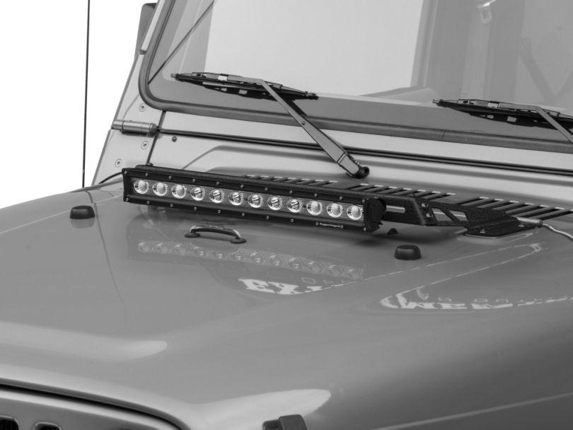 Rugged Ridge 20-Inch LED Light Bar with Hood Mounting Brackets (97-06 Jeep Wrangler TJ)