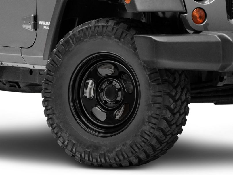 Rugged Ridge Trail Runner Classic Black Steel Wheel without Center Cap; 17x9 (07-18 Jeep Wrangler JK)