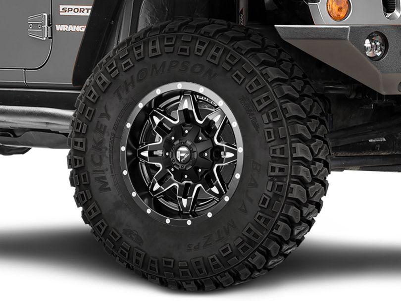 Fuel Wheels Lethal Matte Black Milled Wheel; 17x9 (07-18 Jeep Wrangler JK)