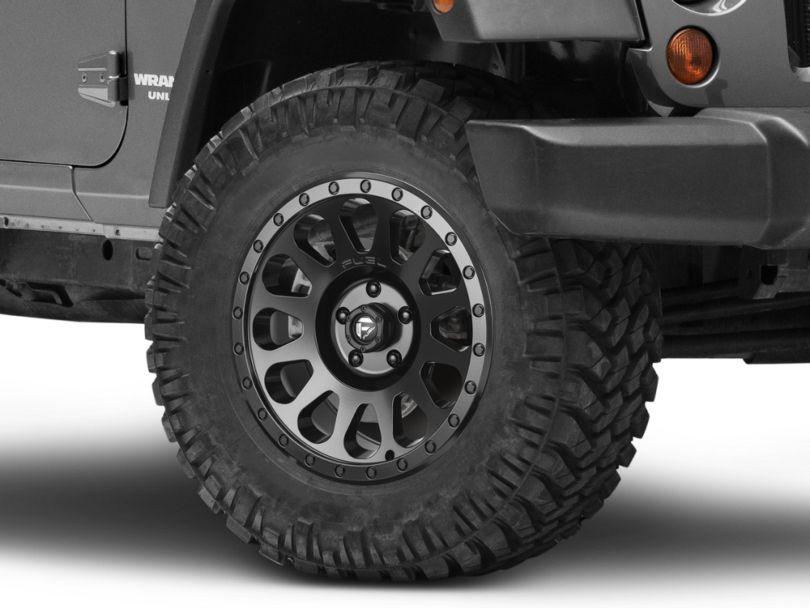 Fuel Wheels Vector Matte Black Wheel; 18x9 (07-18 Jeep Wrangler JK)