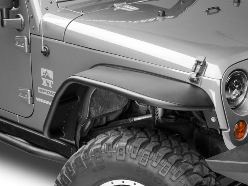 DV8 Off-Road Flat Tube Fender Flares (07-18 Jeep Wrangler JK)