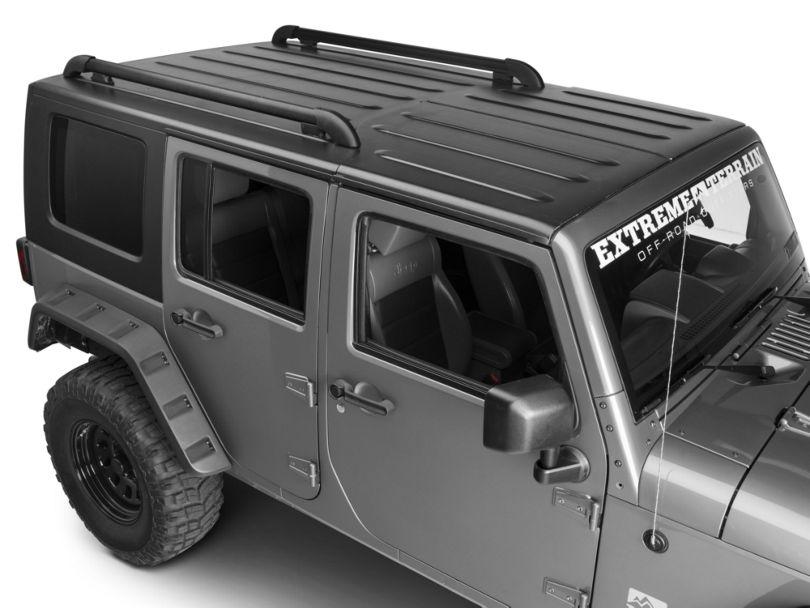 Teraflex Nebo Roof Rack Main Rail Kit; Black (11-18 Jeep Wrangler JK 4 Door)