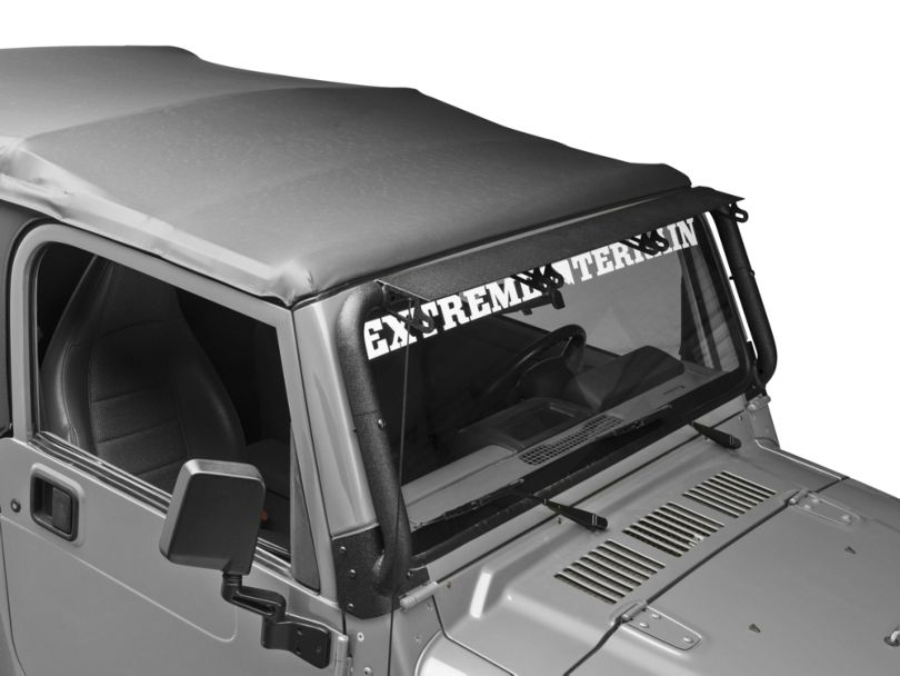 Rugged Ridge Windshield Mounted Light Bar for Three 13.50-Inch LED Light Bars (97-06 Jeep Wrangler TJ)