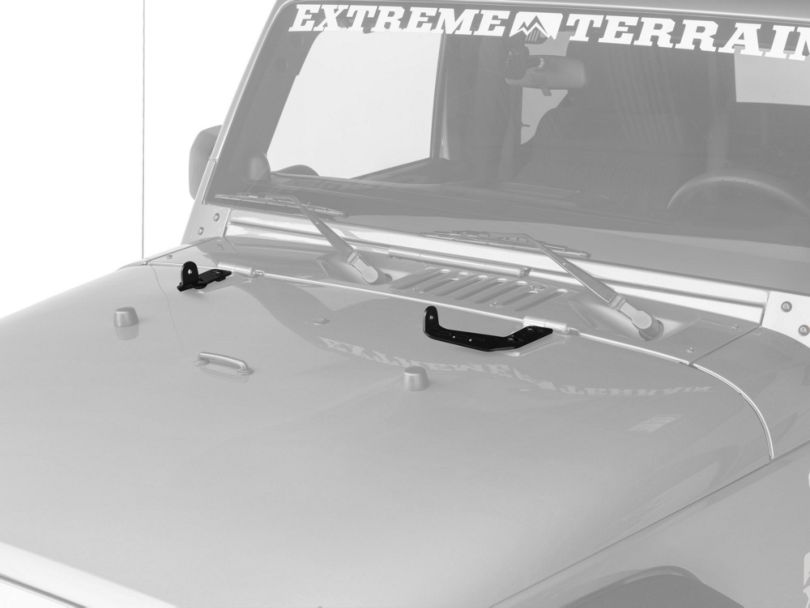 Off Camber Fabrications by MBRP 20-Inch LED Light Bar Hood Mounting Brackets (07-18 Jeep Wrangler JK)