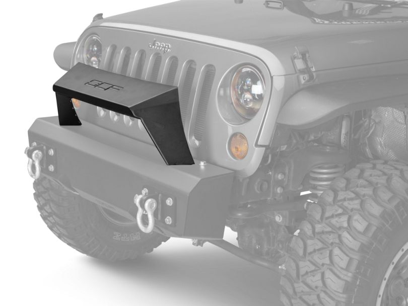 Off Camber Fabrications by MBRP Formed Front Light Bar for OCF Bumpers; Black (07-18 Jeep Wrangler JK)