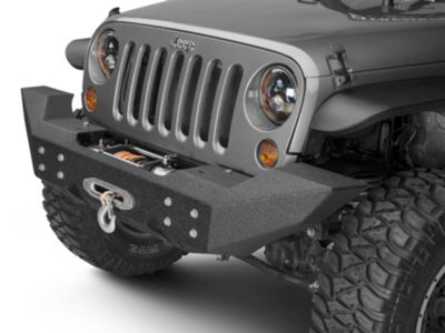Add Off Camber Fabrications by MBRP Front Full Width Winch Bumper - LineX Coated (07-17 Wrangler JK)