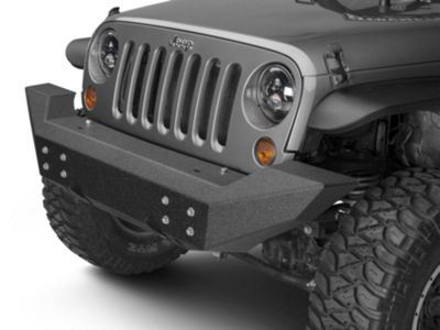 Add Off Camber Fabrications by MBRP Front Full Width Non-Winch Bumper - LineX Coated (07-17 Wrangler JK)