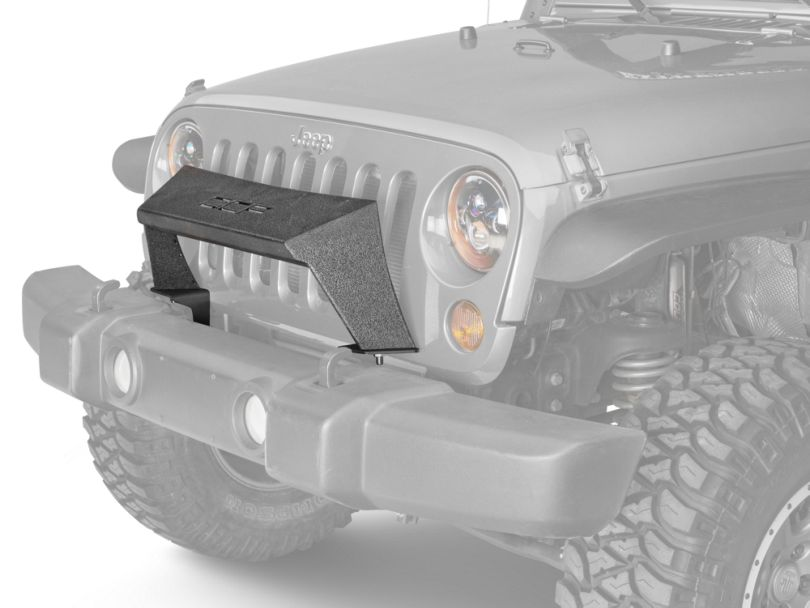Off Camber Fabrications by MBRP Formed Front Light Bar; LineX Coated (07-18 Jeep Wrangler JK)