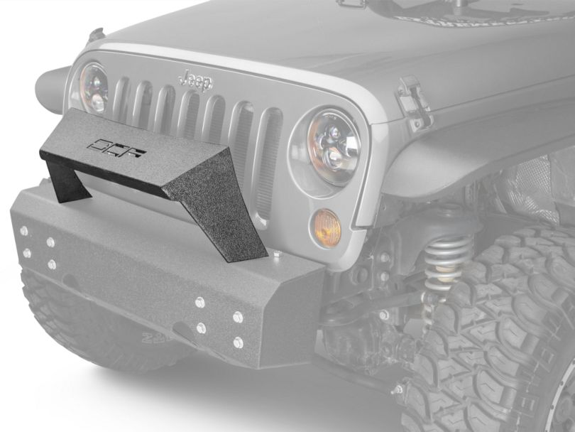 Off Camber Fabrications by MBRP Formed Front Light Bar for OCF Bumpers - LineX Coated (07-18 Jeep Wrangler JK)