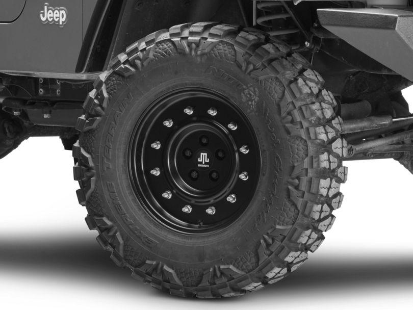 Mammoth General Matte Black Wheel; 16x8 (97-06 Jeep Wrangler TJ)