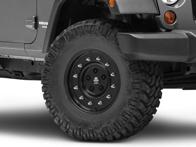 Mammoth General Matte Black Wheel; 16x8 (07-18 Jeep Wrangler JK)