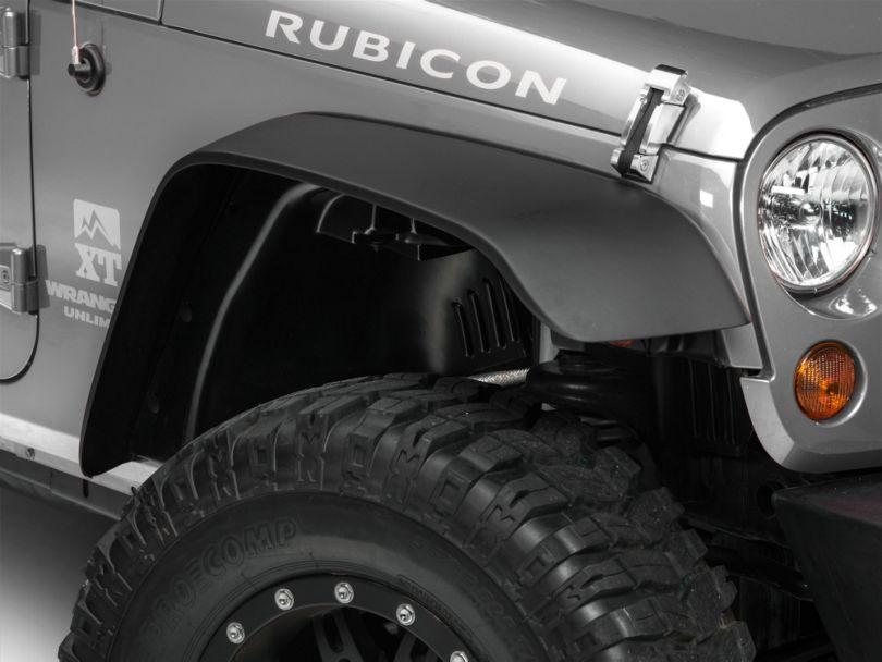 RedRock 4x4 Flat Fender Flares w/ Fender Liner Kit (07-18 Jeep Wrangler JK)
