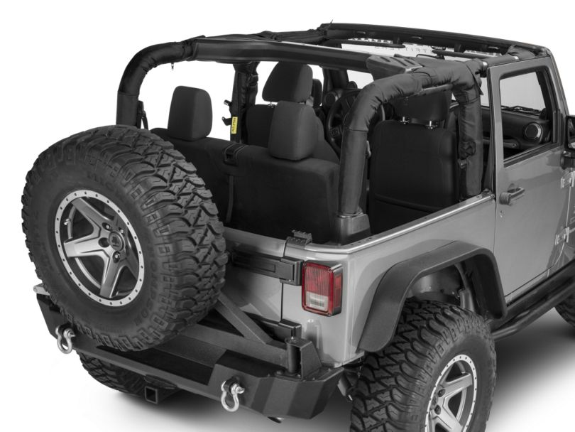 Dirty Dog 4x4 Roll Bar Covers - Black (07-18 Jeep Wrangler JK 2 Door)
