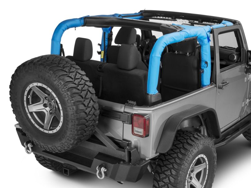Dirty Dog 4x4 Roll Bar Covers - Blue (07-18 Jeep Wrangler JK 2 Door)