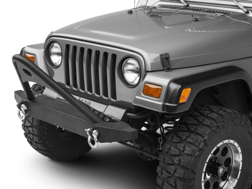 RedRock 4x4 Stubby Front Bumper w/Stinger Bar - Non-winch (87-06 Jeep Wrangler YJ & TJ)
