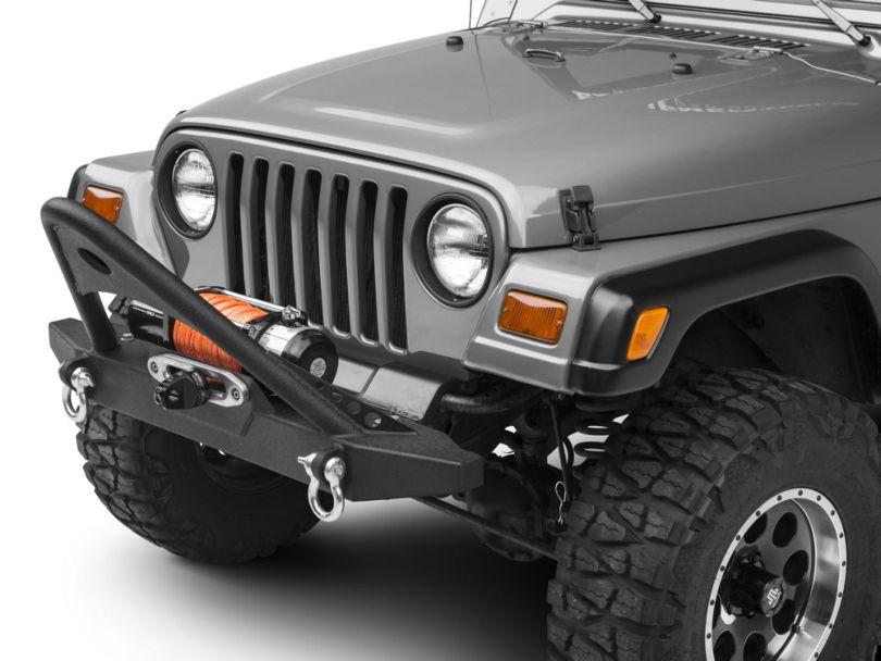 RedRock 4x4 Stubby Front Bumper w/ Stinger Bar - Winch (87-06 Jeep Wrangler YJ & TJ)