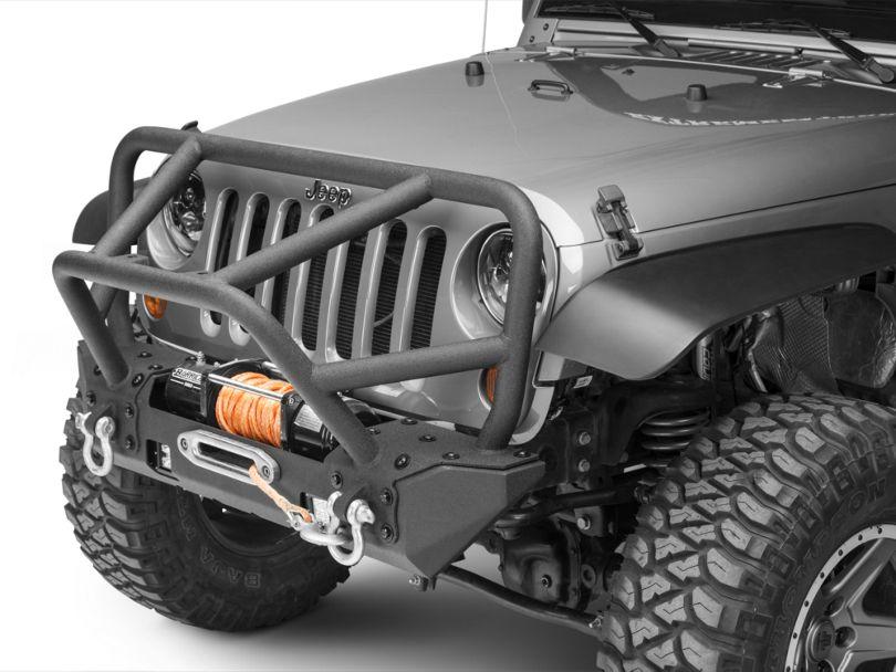 RedRock 4x4 Juggernaut Stubby Front Bumper with LED Lights (07-18 Jeep Wrangler JK)