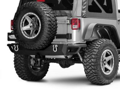 Add RedRock 4x4 Full Width HD Rock Crawler Rear Bumper (07-17 Wrangler JK)