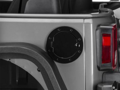 RedRock 4x4 Non-Locking Fuel Door - Black (07-18 Jeep Wrangler JK)