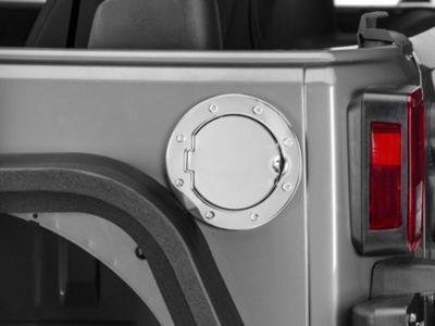 RedRock 4x4 Non-Locking Fuel Door - Stainless (07-18 Jeep Wrangler JK)