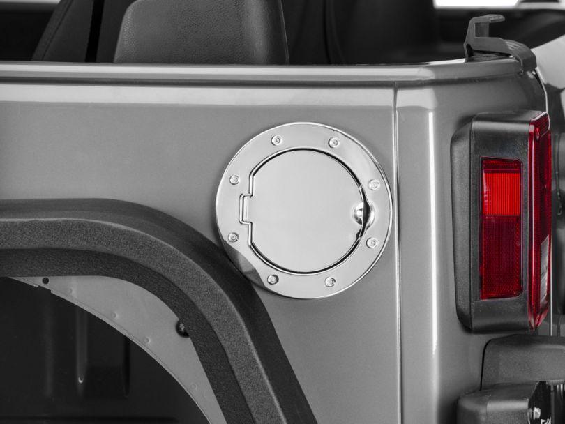 RedRock 4x4 Non-Locking Fuel Door; Stainless Steel (07-18 Jeep Wrangler JK)