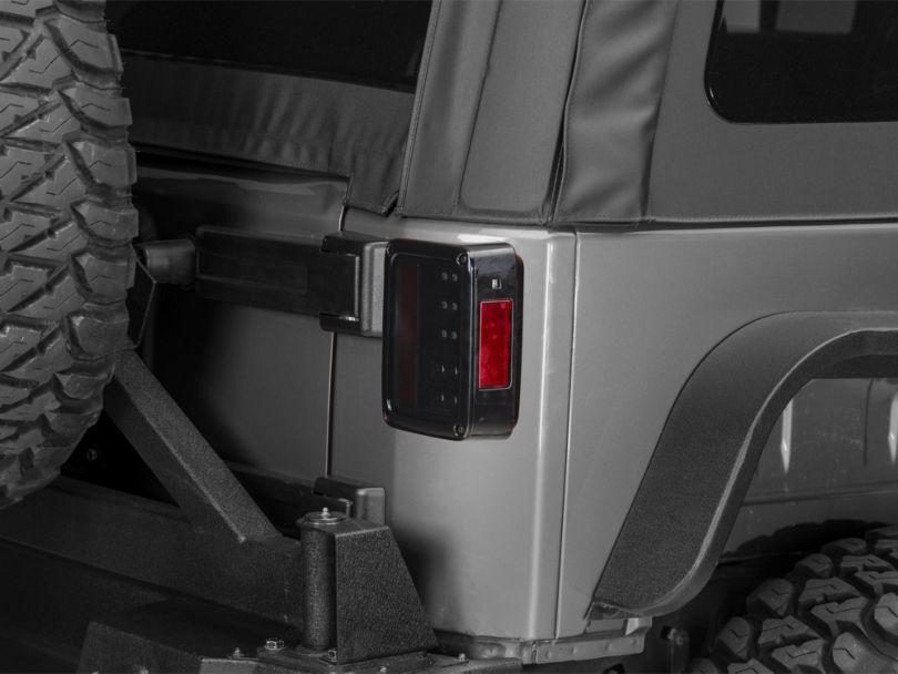 LED Tail Lights - Black Smoked (07-18 Jeep Wrangler JK)