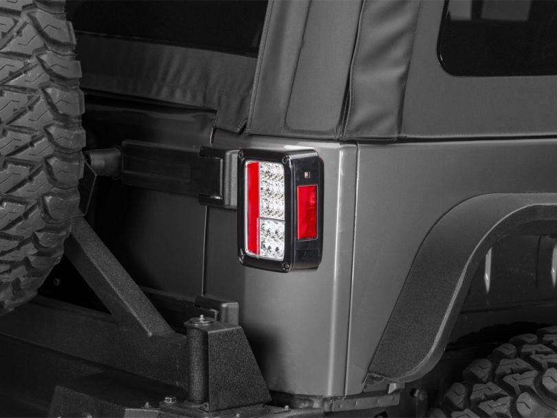 LED Tail Lights; Chrome (07-18 Jeep Wrangler JK)