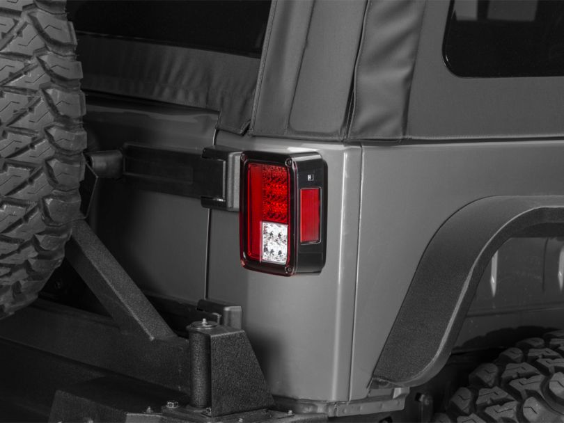 LED Tail Lights - Red Clear (07-18 Jeep Wrangler JK)